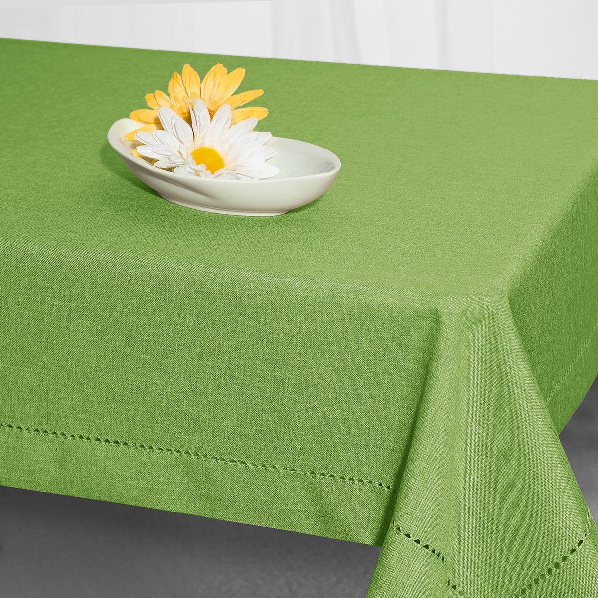 """Скатерть """"Schaefer"""", прямоугольная, цвет: зеленый, 130 x 170 см. 07602-429"""
