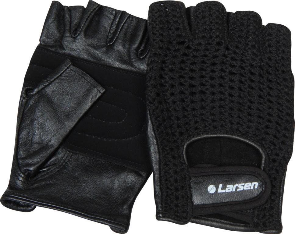 """Перчатки для фитнеса Larsen """"NT503"""", цвет: черный. Размер S"""