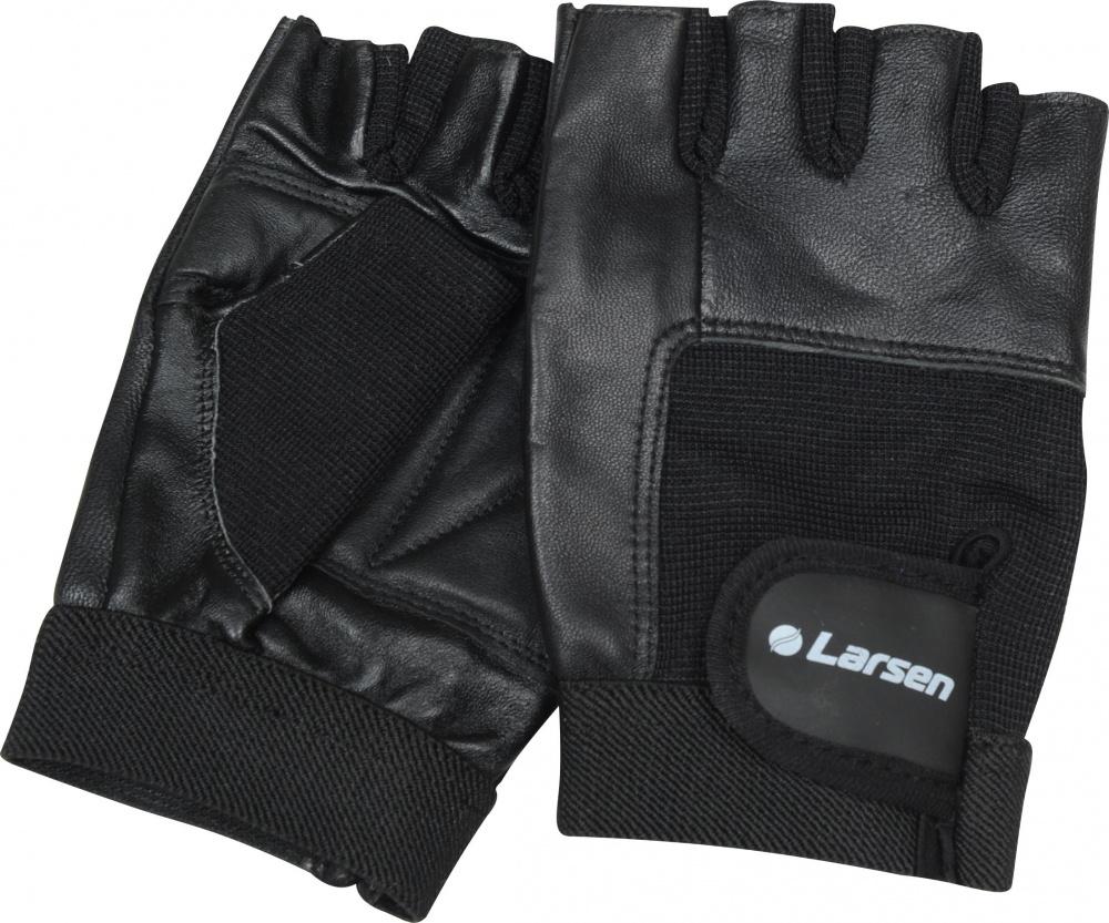 """Перчатки для фитнеса Larsen """"NT506"""", цвет: черный. Размер L"""