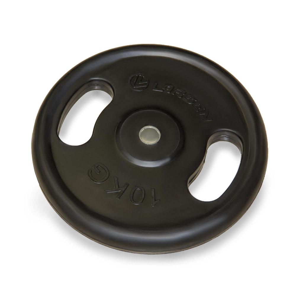 """Диск обрезиненный Larsen """"NT121N"""", посадочный диаметр 25,6 мм, 10 кг"""