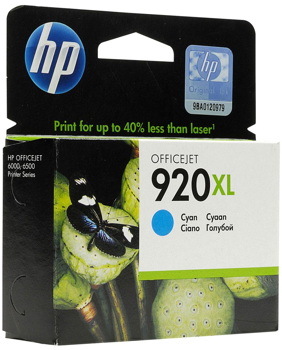 Картридж HP 920XL, голубой, для струйного принтера