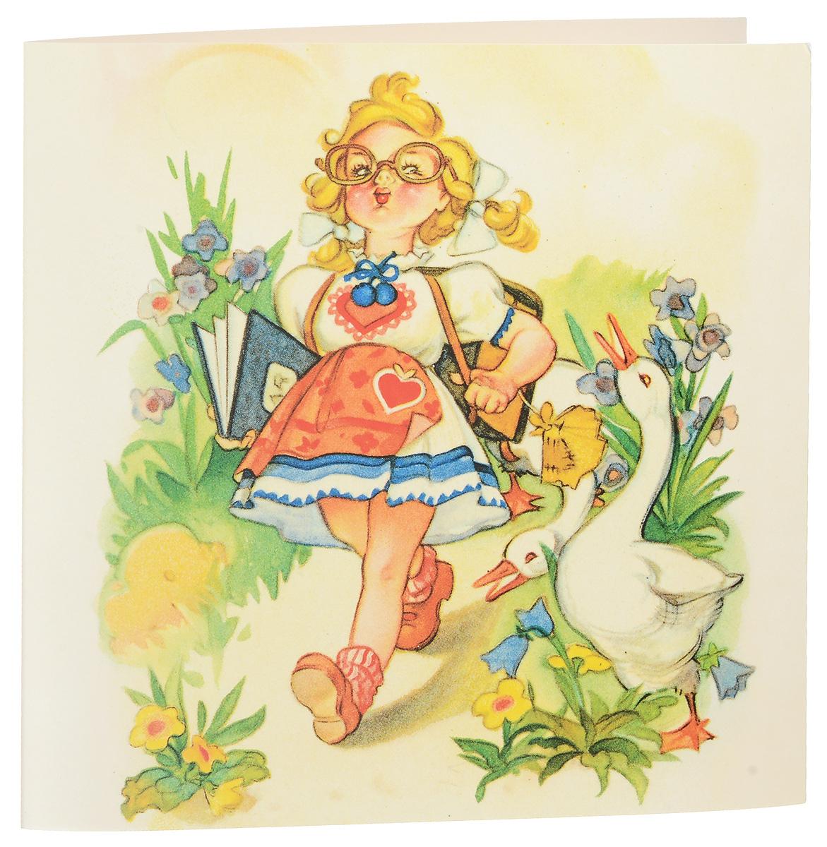 Открытка поздравительная Darinchi № 33, формат А5. Авторская работа открытка красавица с зеркальцем авторская работа д2