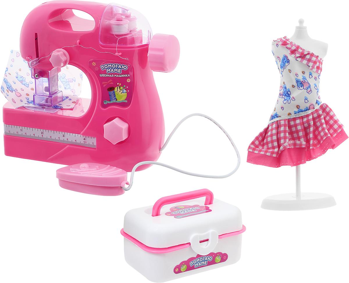 ABtoys Игровой набор Помогаю маме Швейная машинка abtoys игровой набор abtoys помогаю маме швейная машинка с аксессуарами