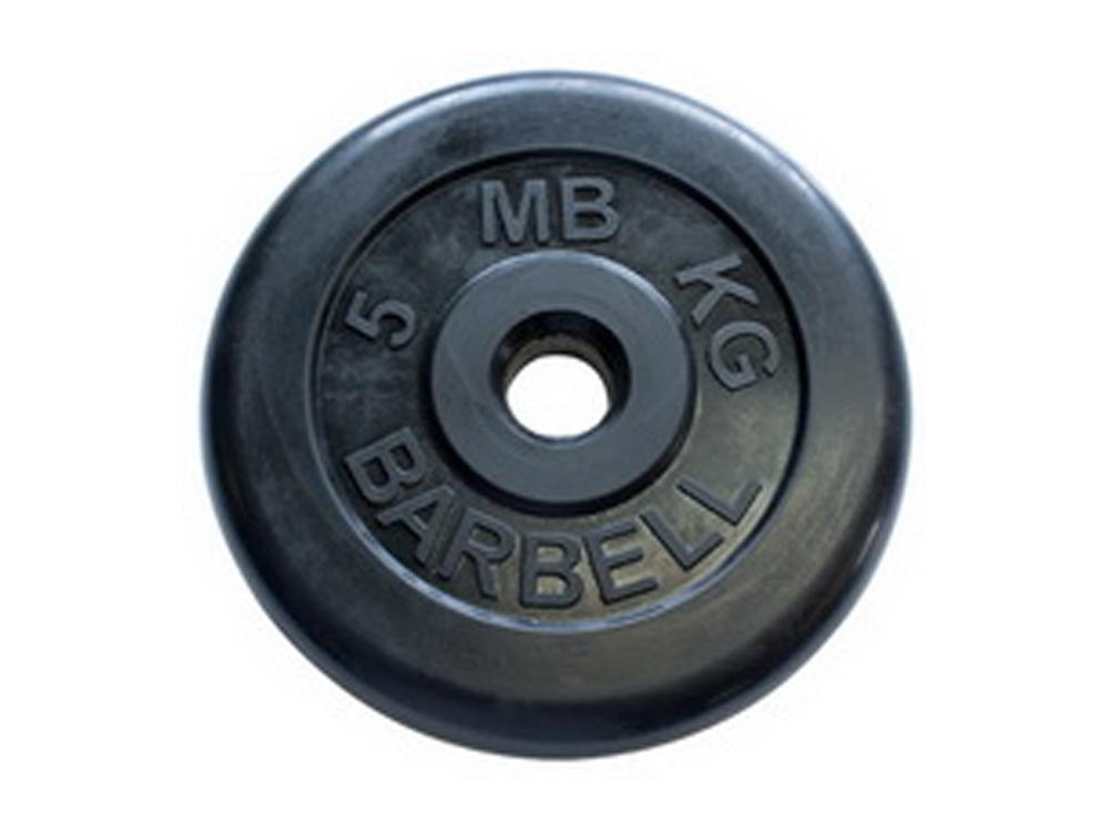 Фото - Диск обрезиненный MB Barbell Atlet 26 мм, черный 5 кг диск обрезиненный atlet 26 мм 5 кг черный