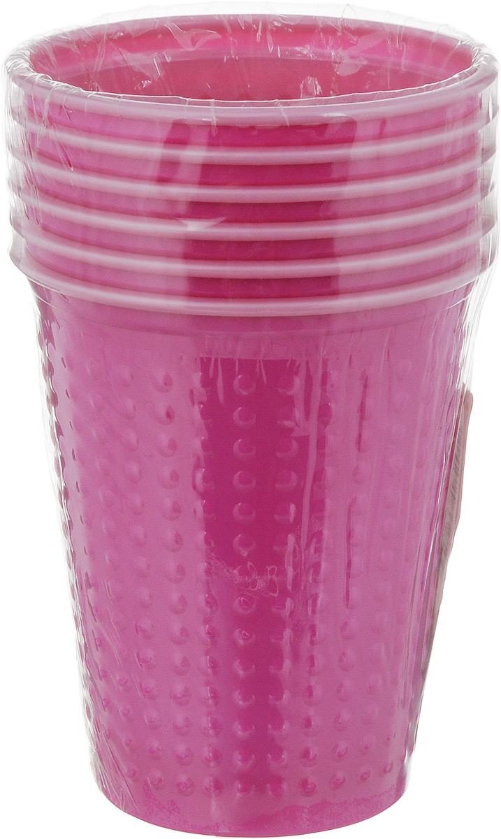 """Набор одноразовых стаканов Buffet """"Biсolor"""", цвет: фуксия, розовый, 200 мл, 6 шт"""