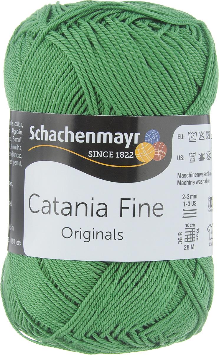 """Пряжа для вязания Schachenmayr """"Originals Catania Fine"""", цвет: зеленый (00371), 165 м, 50 г"""