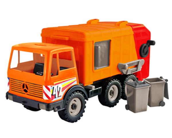 Лена Мусоровоз цвет оранжевый мусоровоз лена 3х осный 23 см разноцветный 8812