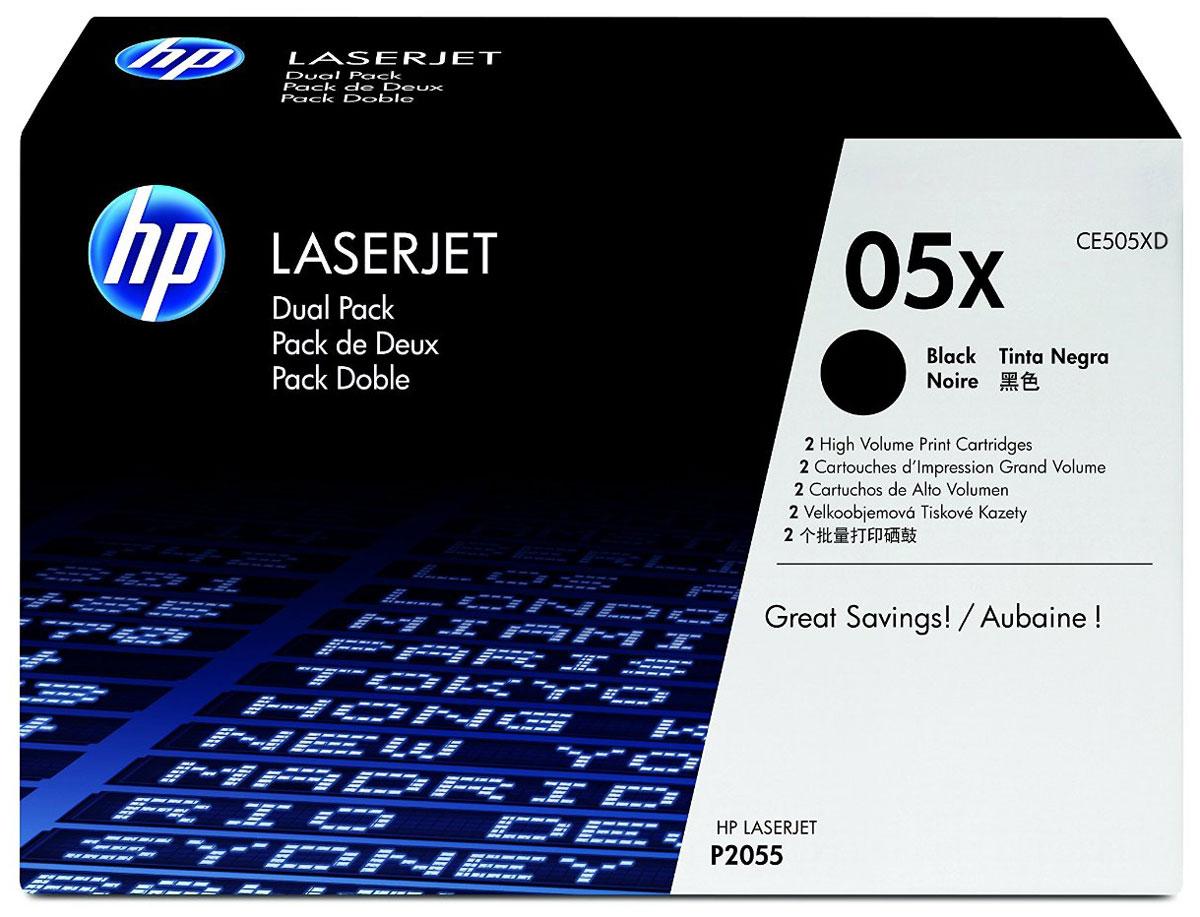 Картридж HP CE505XD, черный, для лазерного принтера, оригинал hp laserjet ce505xd black