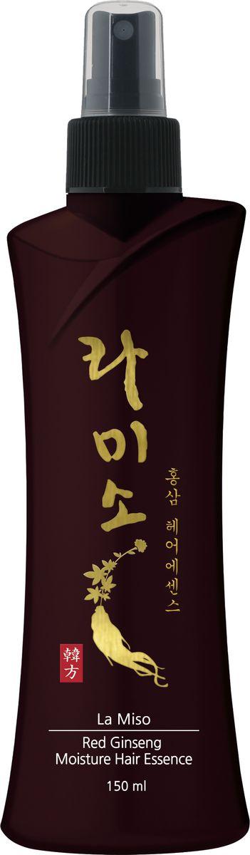 La Miso, Увлажняющая эссенция для волос с экстрактом красного женьшеня, Red Ginseng Moisture Hair Essence, 150 мл все цены