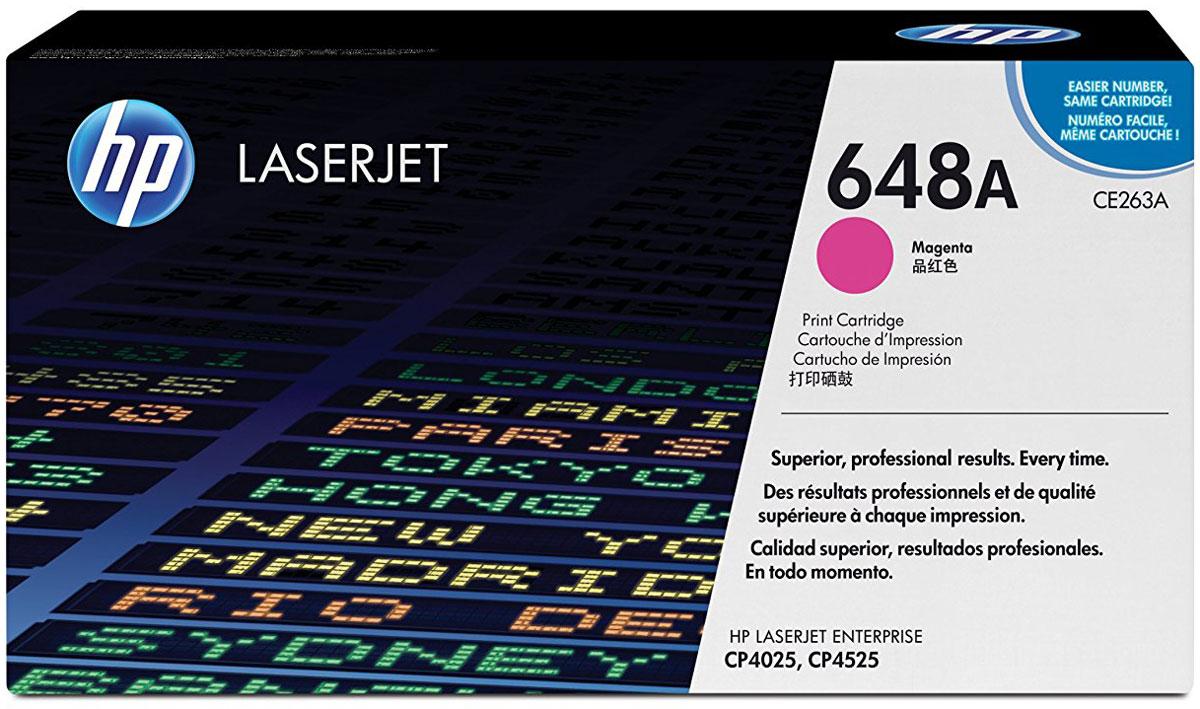 Картридж HP CE263A, пурпурный, для лазерного принтера, оригинал картридж hp ce263a