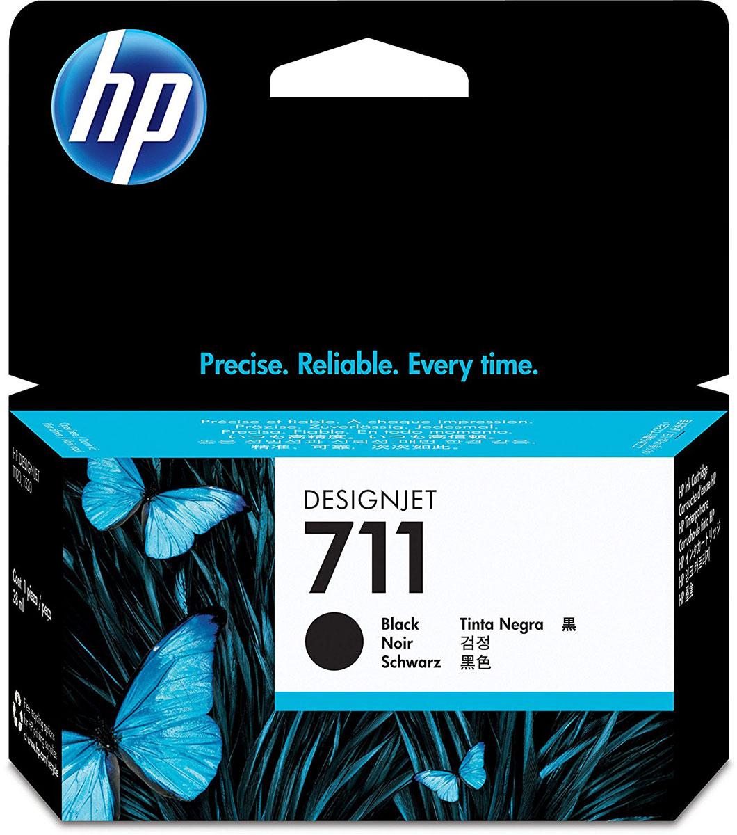Картридж HP 711, черный, для струйного принтера