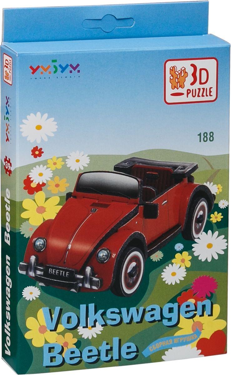 Фото - Умная бумага 3D пазл Volkswagen Beetle умная бумага 3d пазл квадроцикл