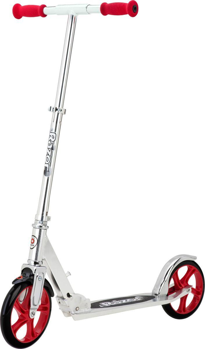 цена на Самокат Razor A5 Lux, цвет: серебристый, красный