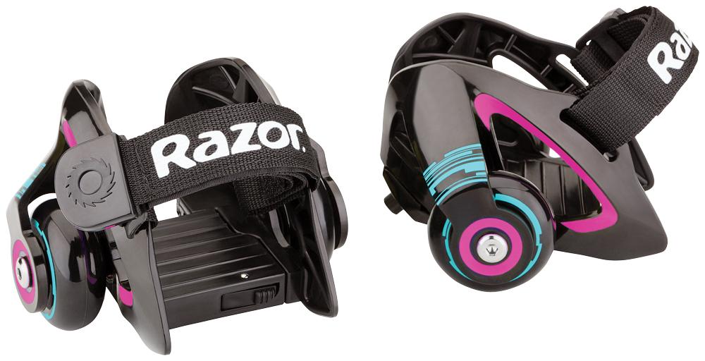 Ролики на обувь Razor Jetts, цвет: черный, фуксия ролики 80 е