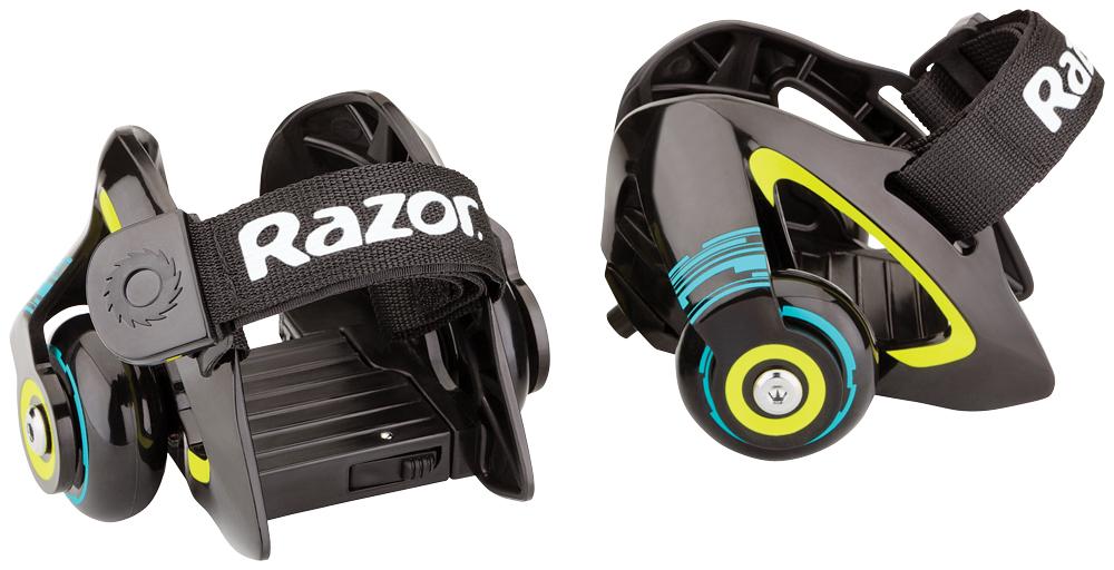 Ролики на обувь Razor Jetts, цвет: черный, зеленый ролики 80 е