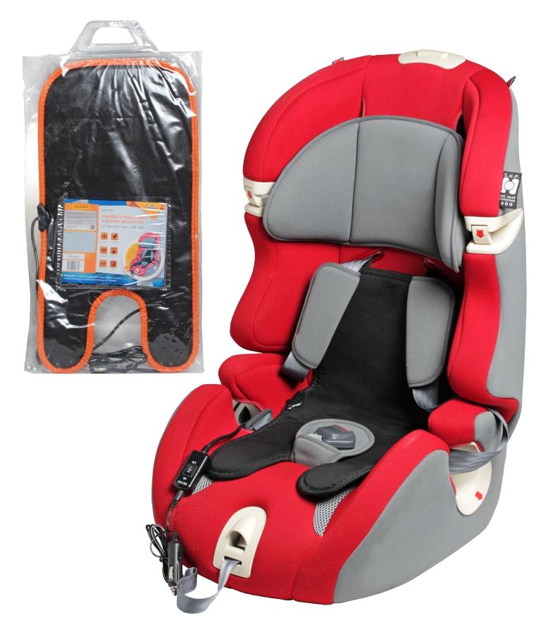 Накидка на сиденье Airline, на детское автокресло 1-7 лет, с подогревом, 12В, 22Вт аксессуары для колясок и автокресел витоша накидка на автомобильное сиденье под автокресло