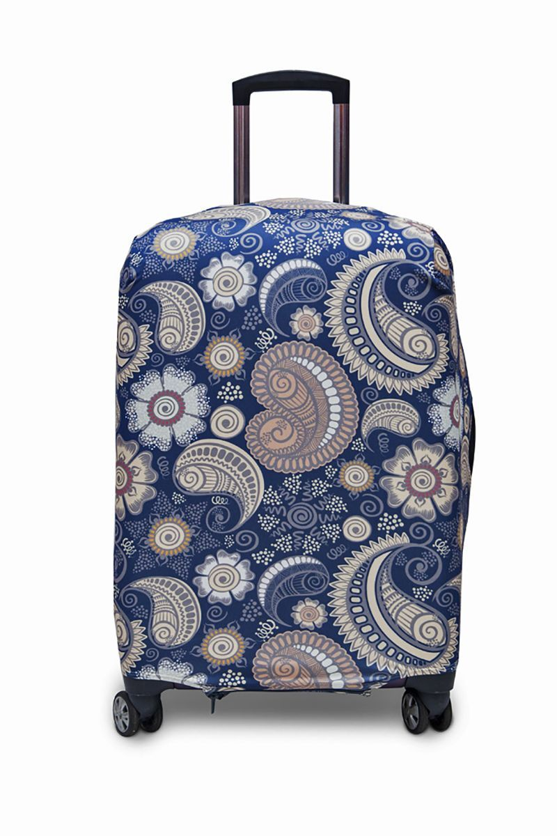 Чехол для чемодана Fancy Armor Travel Suit Eco. Немо, размер M/L (60-70 см)FTS_ECO_011Чехол Fancy Armor Travel Suit Eco. Немо предназначен для чемоданов высотой 60-70 см, выполнен из спандекса - легкого, эластичного и стойкого к разрыву материала, плотностью 240 г/см3. Универсальный чехол для большого чемодана защищает чемодан и вещи от грязи и повреждений, заменяет пленку в аэропорту и позволяет сэкономить время и деньги на упаковке багажа, а также поможет безошибочно отличить свой чемодан. Запатентованная выкройка обеспечивает идеальную посадку, а высокое качество пошива и используемых материалов гарантирует долгую службу чехла. Обработанные силиконовой резинкой вырезы специальной формы обеспечивают удобный доступ ко всем ручкам чемодана.
