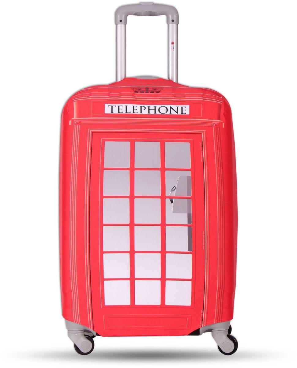 Чехол для чемодана Fancy Armor Travel Suit Eco. Телефон, размер M/L (60-70 см) чехол для чемодана fancy armor travel suit eco лемонграсс размер m l 60 70 см