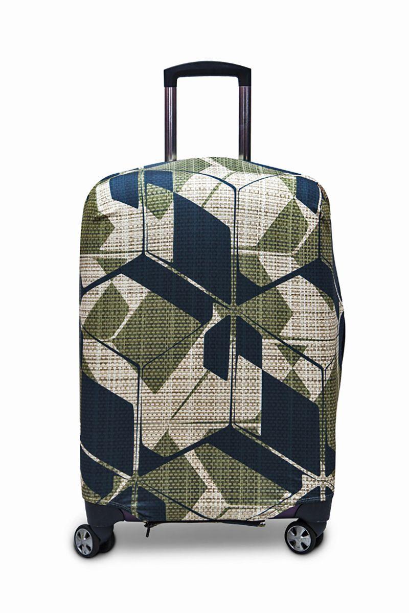 Чехол для чемодана Fancy Armor Travel Suit Eco. Милитари, размер M/L (60-70 см) чехол для чемодана fancy armor travel suit eco лемонграсс размер m l 60 70 см