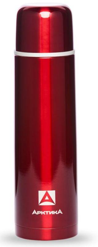 """Термос """"Арктика"""", с узким горлом, цвет: красный, 1 л"""