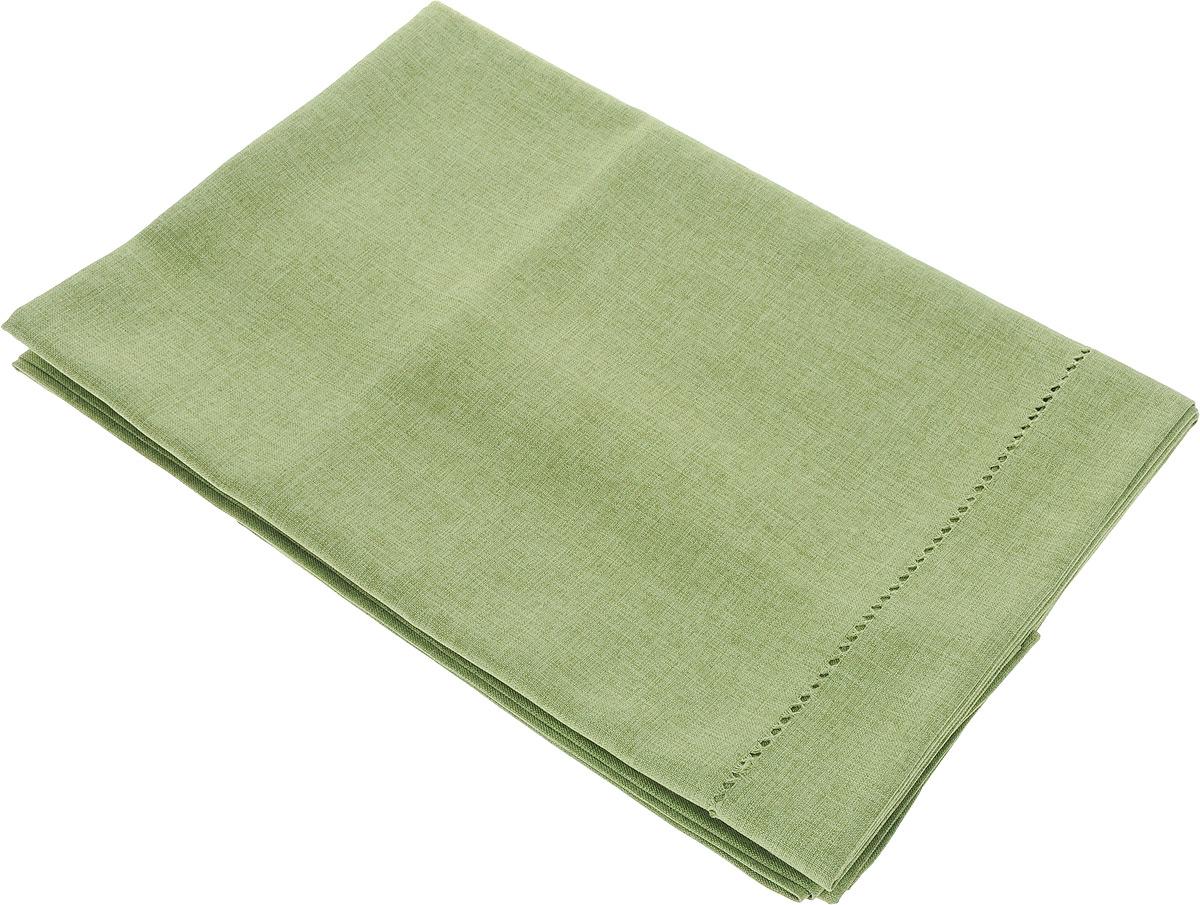 """Скатерть """"Schaefer"""", прямоугольная, цвет: зеленый, 130 x 220 см"""