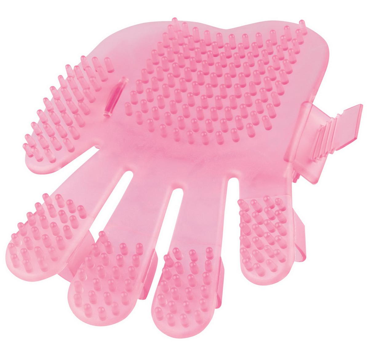 """Рукавица для чистки кошек """"Dezzie"""", цвет: розовый, длина 17,5 см"""