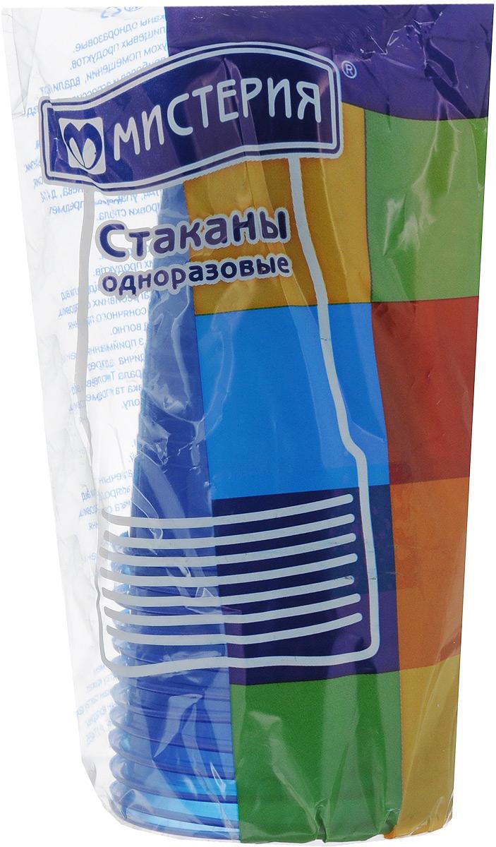 Набор одноразовых стаканов Мистерия, цвет: синий, 200 мл, 12 шт набор одноразовых стаканов buffet biсolor цвет оранжевый желтый 200 мл 6 шт