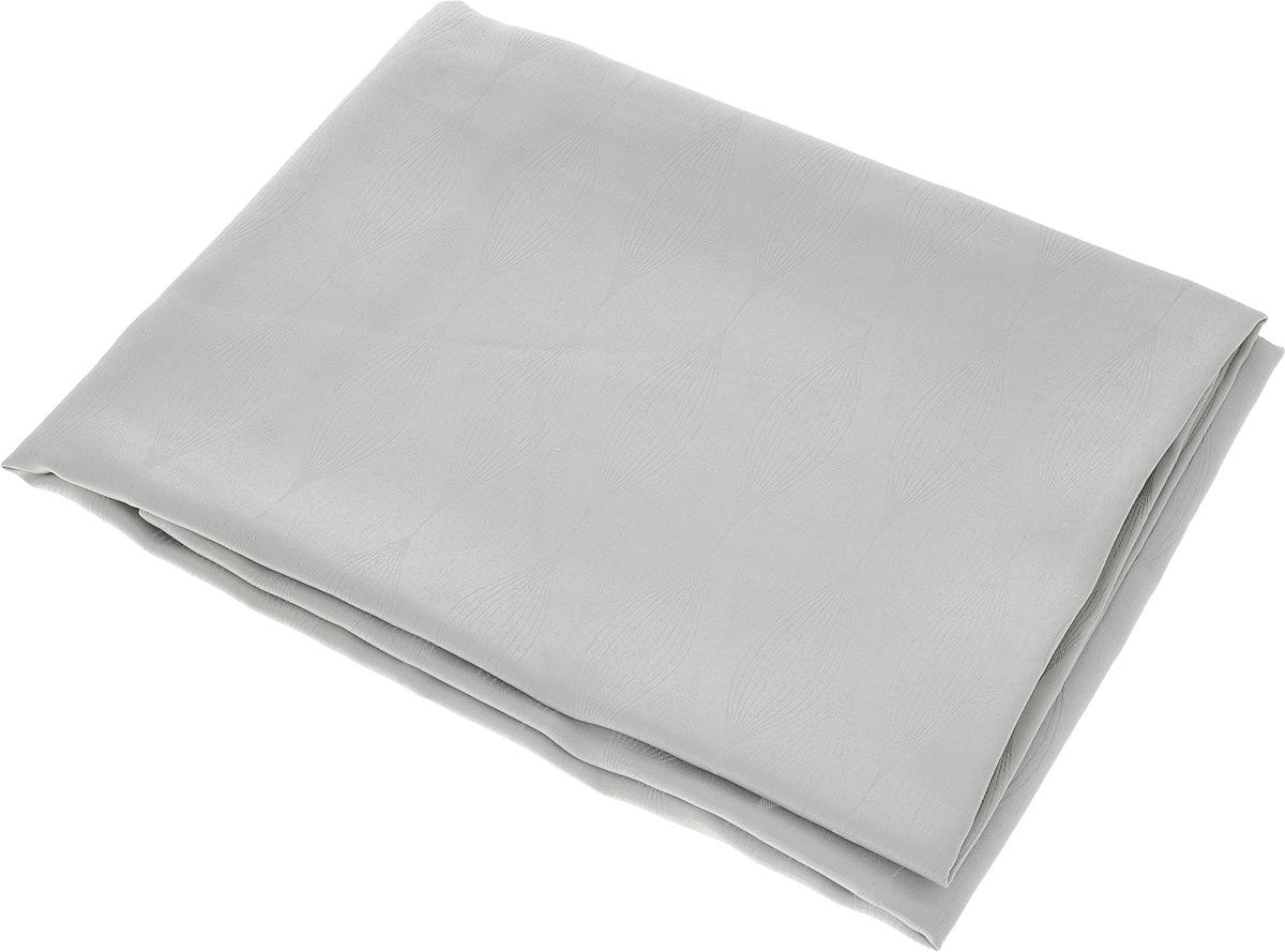 """Скатерть """"Schaefer"""", прямоугольная, цвет: серебристый, 160 х 220 см. 07734-408"""