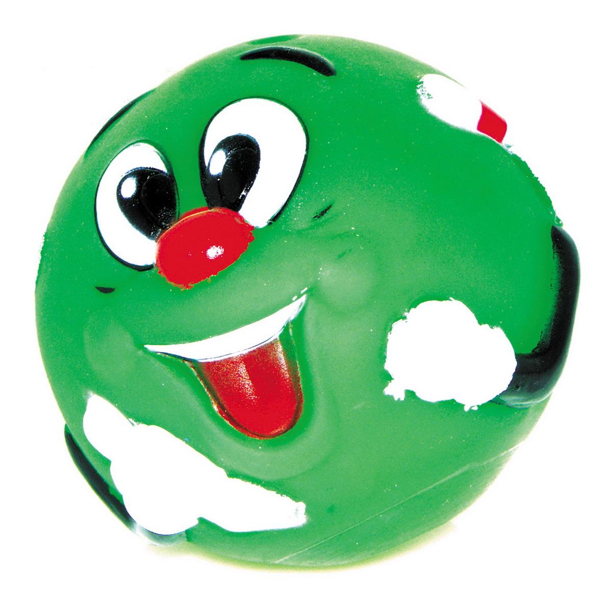"""Игрушка для собак Dezzie """"Мяч. Собачья радость"""", цвет: зеленый, диаметр 8,5 см. 5604006"""