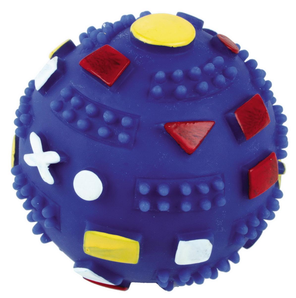 """Игрушка для собак Dezzie """"Мяч. Фигуры"""", цвет: микс, диаметр 7 см"""