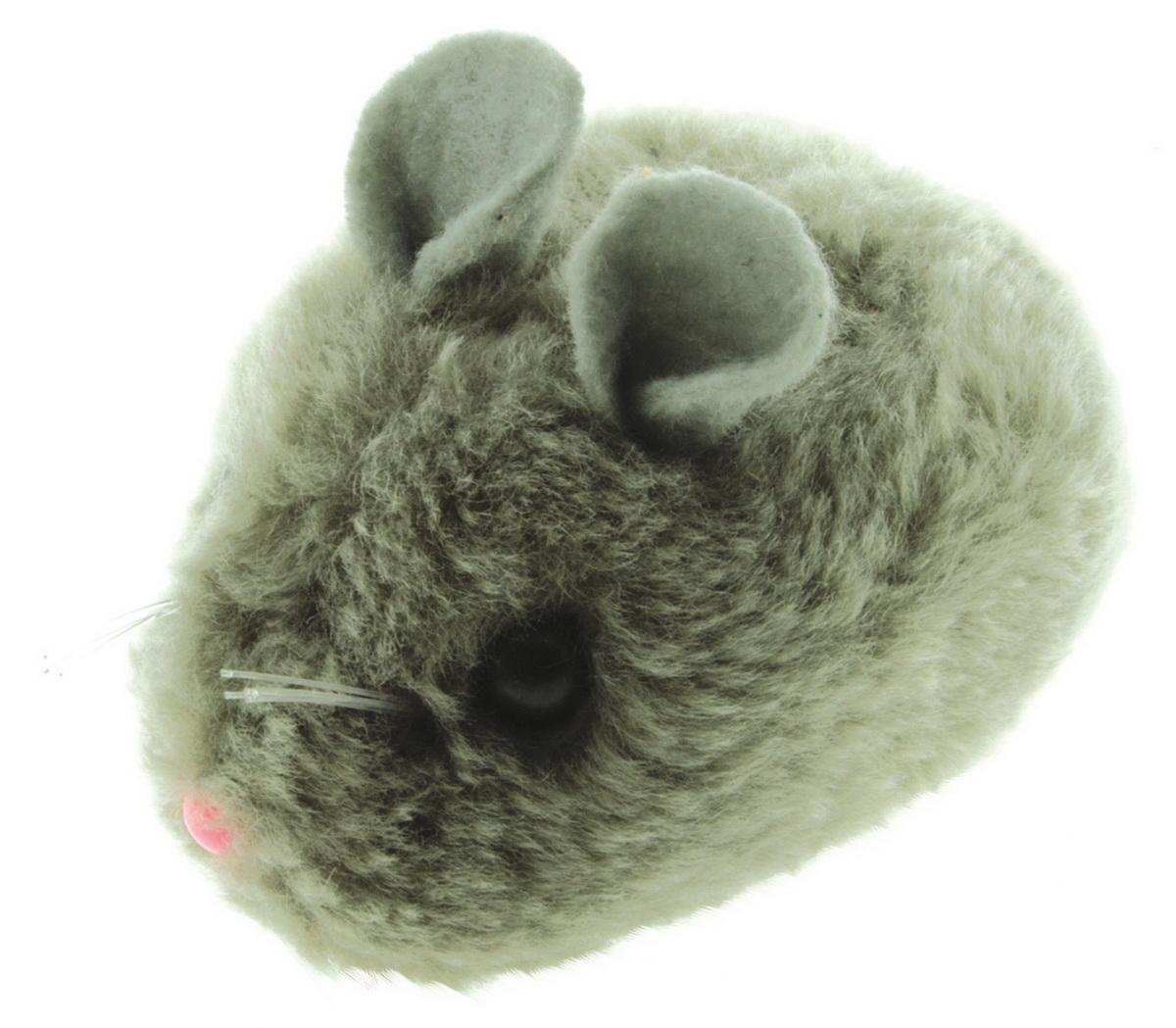"""Игрушка для кошек Dezzie """"Мышь. Актив №4"""", цвет: серый, 8 см"""
