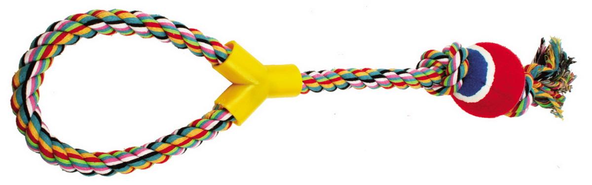 Игрушка для собак Dezzie Веревка №3, длина 50 см игрушка для собак triol веревка 4 сосиски длина 63 см