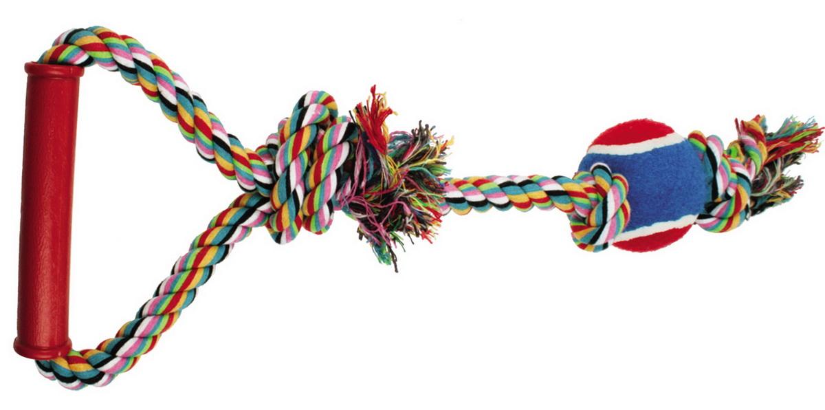 Игрушка для собак Dezzie Веревка №1, длина 50 см игрушка для собак triol веревка 4 сосиски длина 63 см