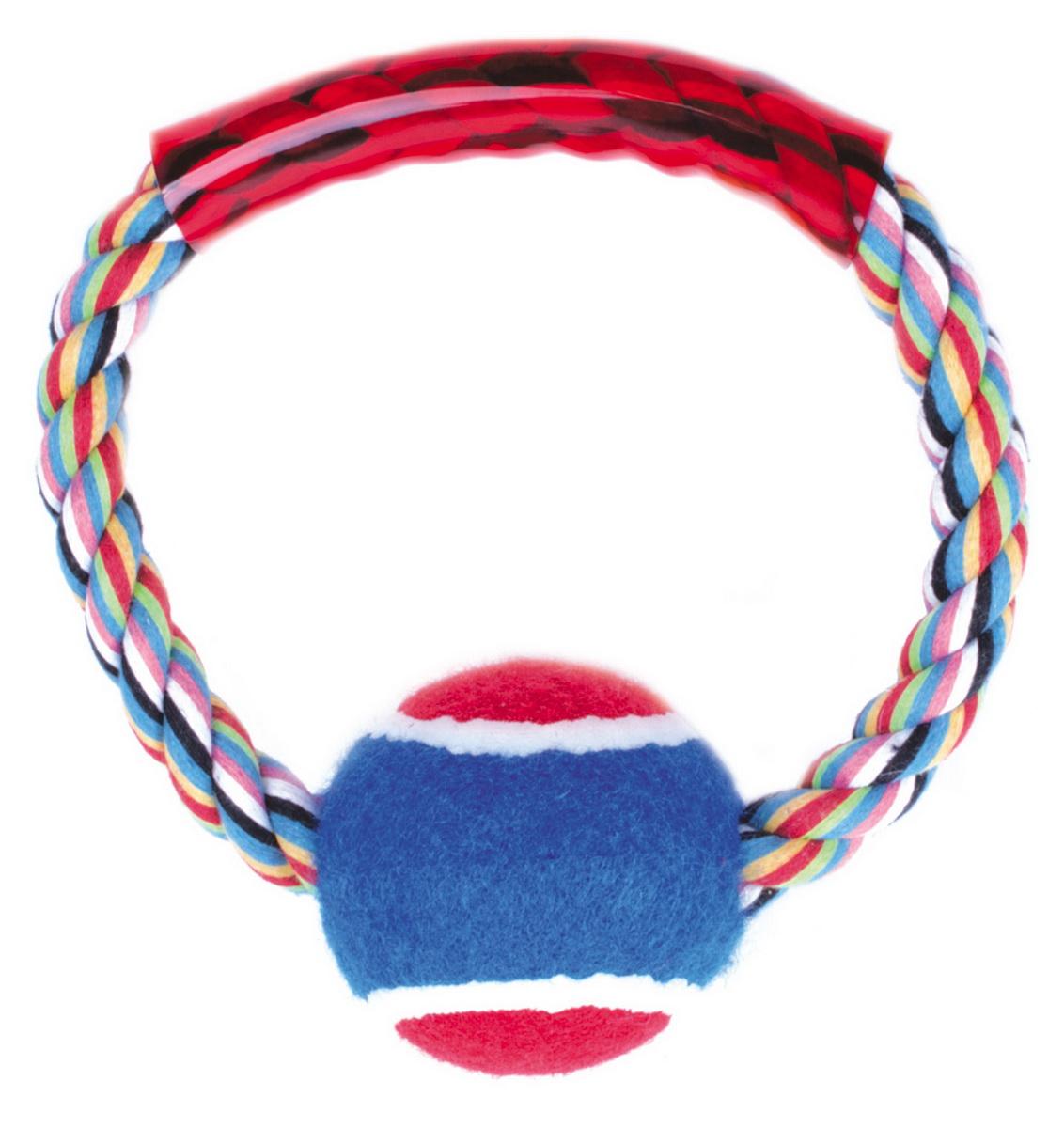 """Игрушка для собак Dezzie """"Кольцо с мячом"""", 15 см"""