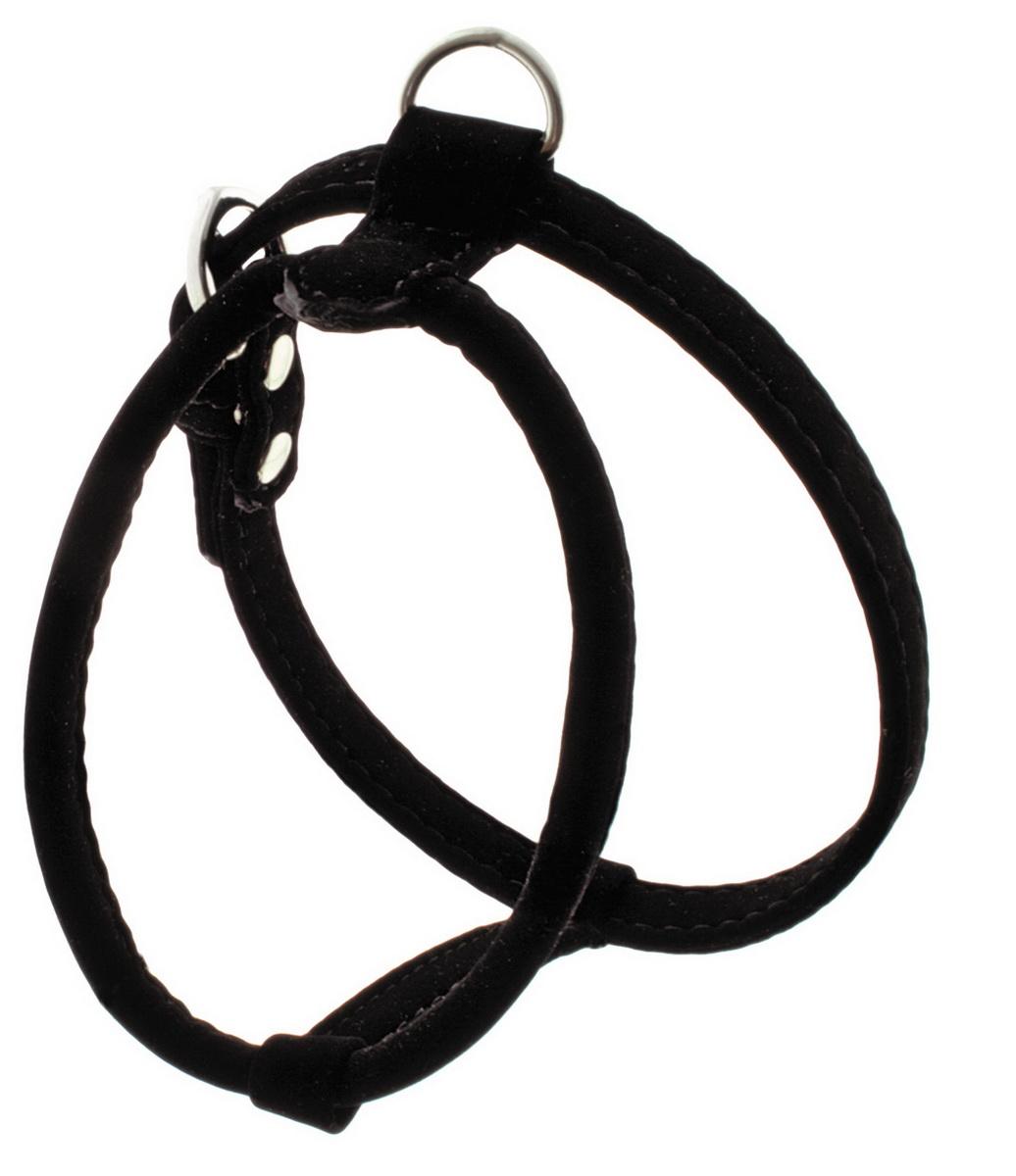 Шлейка для собак Dezzie, цвет: черный, ширина 1 см, обхват шеи 25 см, обхват груди 28-33 см. Размер S. 5624007 шлейка для собак зоомарк к9 1 обхват груди 51 67 см