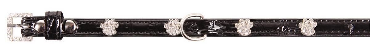 """Ошейник для собак """"Dezzie"""", цвет: черный, обхват шеи 23-28 см, ширина 1 см. Размер S. 5624191"""