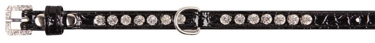 """Ошейник для собак """"Dezzie"""", цвет: черный, обхват шеи 23-28 см, ширина 1 см. Размер S. 5624202"""