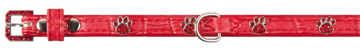 """Ошейник для собак """"Dezzie"""", цвет: красный, обхват шеи 23-28 см, ширина 1 см. Размер S. 5624279"""