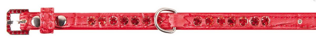 """Ошейник для собак """"Dezzie"""", цвет: красный, обхват шеи 23-28 см, ширина 1 см. Размер S. 5624290"""