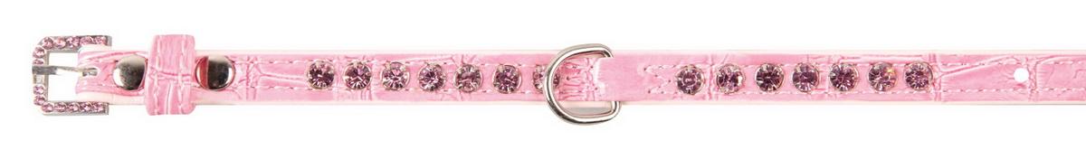 """Ошейник для собак """"Dezzie"""", цвет: розовый, обхват шеи 23-28 см, ширина 1 см. Размер S. 5624300"""