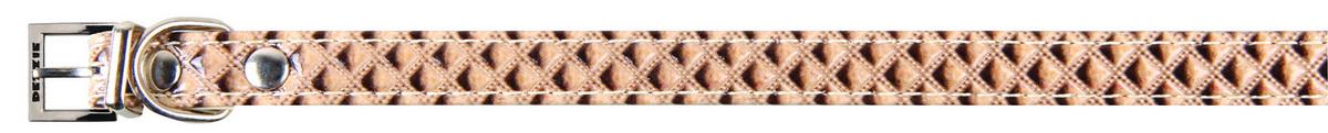 Ошейник для собак Dezzie, цвет: розовый, обхват шеи 30 см, ширина 1,3 см. 56243215624321Ошейник для собак Dezzie изготовлен из искусственной кожи и декорирован теснением. Он устойчив к влажности и перепадам температур. Клеевой слой, сверхпрочные нити и крепкие металлические элементы делают ошейник надежным и долговечным. Имеется металлическое кольцо для крепления поводка. Изделие отличается высоким качеством, удобством и универсальностью, а также имеет эффектный внешний вид. Обхват шеи: 30 см. Ширина ошейника: 1,3 см.