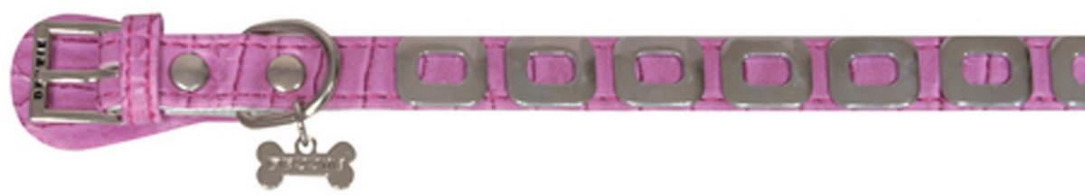 """Ошейник для собак """"Dezzie"""", цвет: розовый, обхват шеи 25 см, ширина 1 см. Размер XS. 5624347"""