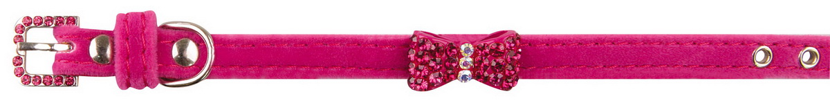 """Ошейник для собак """"Dezzie"""", цвет: розовый, обхват шеи 23-28 см, ширина 1 см. 5624415"""