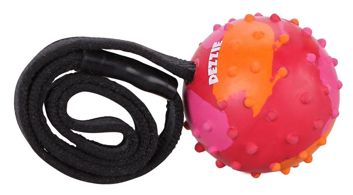 """Игрушка для собак Dezzie """"Мечта"""" на веревке, со вкусом мяса, 37 см"""
