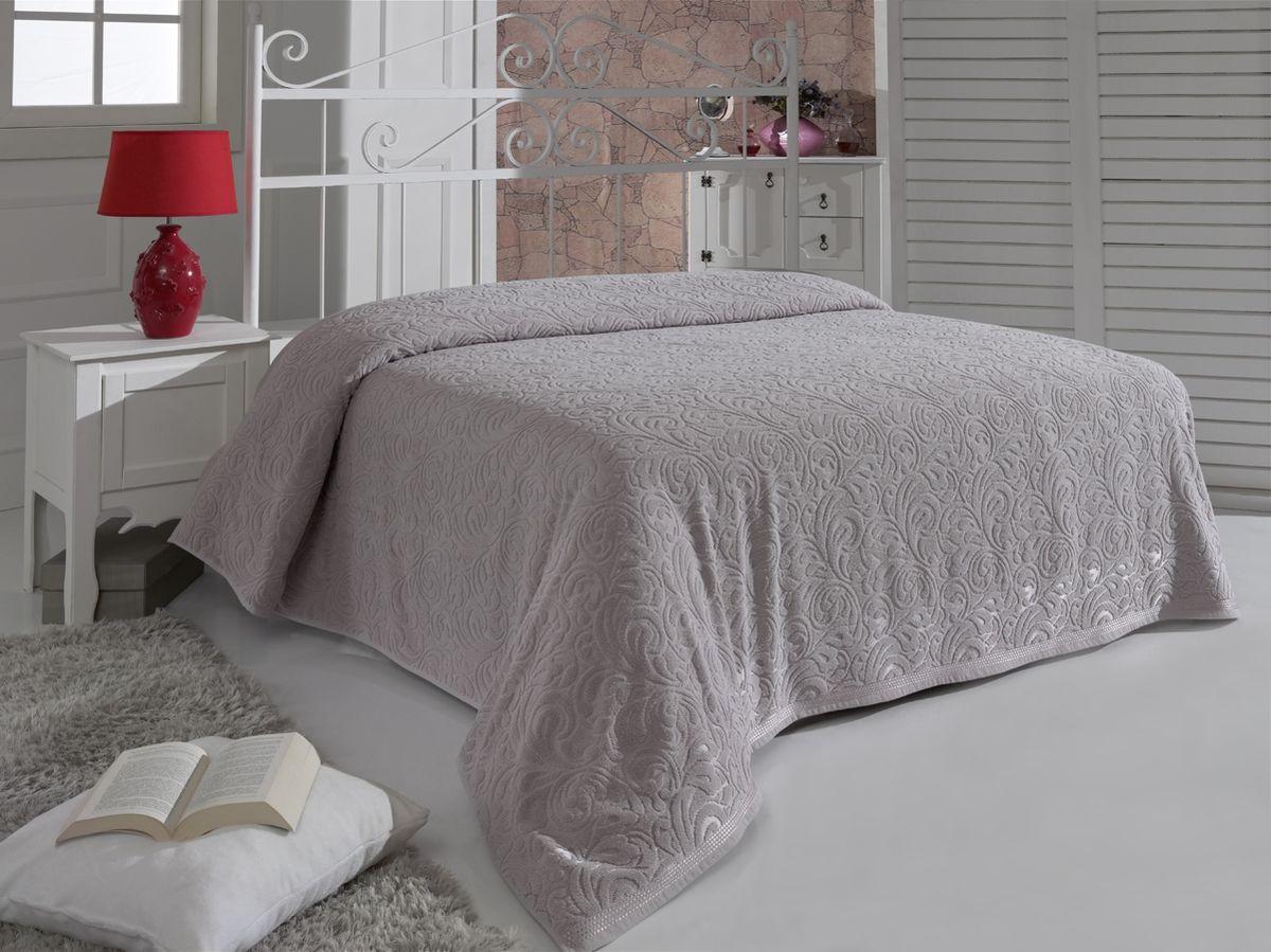 Простыня махровая Karna Esra, цвет: стоне, 160 x 220 см цена