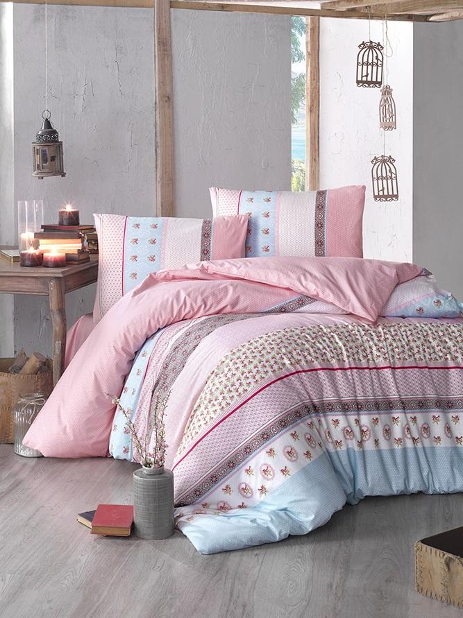 Комплект белья Altinbasak Justo, 2-спальный, наволочки 50х70, цвет: розовый297/21/CHAR003Комплект постельного белья включает в себя четыре предмета: простыню, пододеяльник и две наволочки, выполненные из ранфорса. Ранфорс - 100% хлопковое волокно, для которого характерна высокая плотность. Ткань отличается повышенной прочностью и износостойкостью, не теряет своего вида даже после частых стирок. Отлично подстраивается под температуру окружающей среды, даря зимой тепло, а летом - прохладу. Гипоаллергенен, хорошо пропускает воздух и впитывает влагу. Советы по выбору постельного белья от блогера Ирины Соковых. Статья OZON Гид