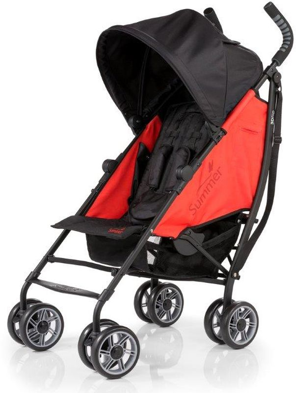 Summer Infant Коляска прогулочная 3D Flip цвет черный красный детская прогулочная коляска summer infant 3d flip