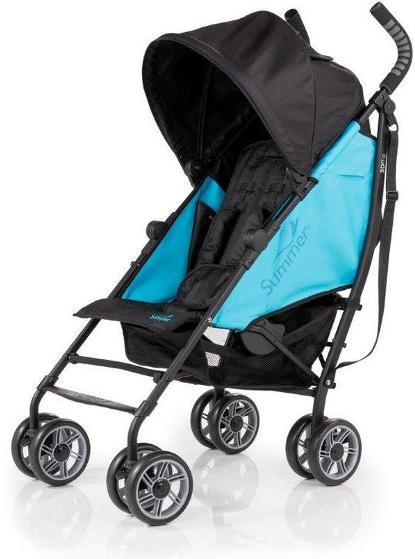 Summer Infant Коляска прогулочная 3D Flip цвет черный голубой детская прогулочная коляска summer infant 3d flip