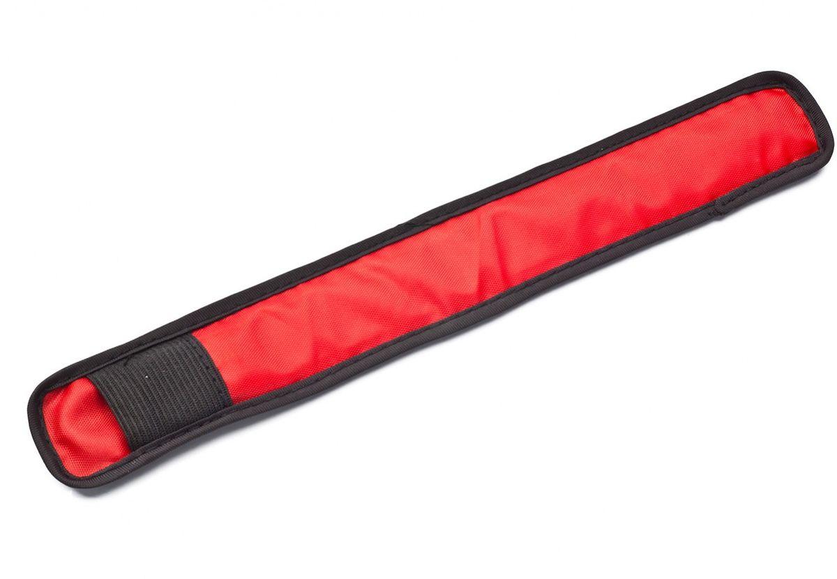 Слэп-лента Bradex, со светодиодной подсветкой, цвет: красный, черный слэп лента bradex со светодиодной подсветкой цвет синий черный
