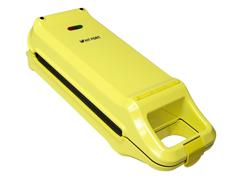 все цены на Вафельница Kitfort КТ-1611, Yellow, для бельгийских вафель онлайн